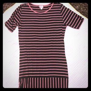 Unique striped LulaRoe Julia Dress